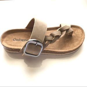 c61852763110 Outwoods | NEW Taupe Braided Thong Strap Sandal